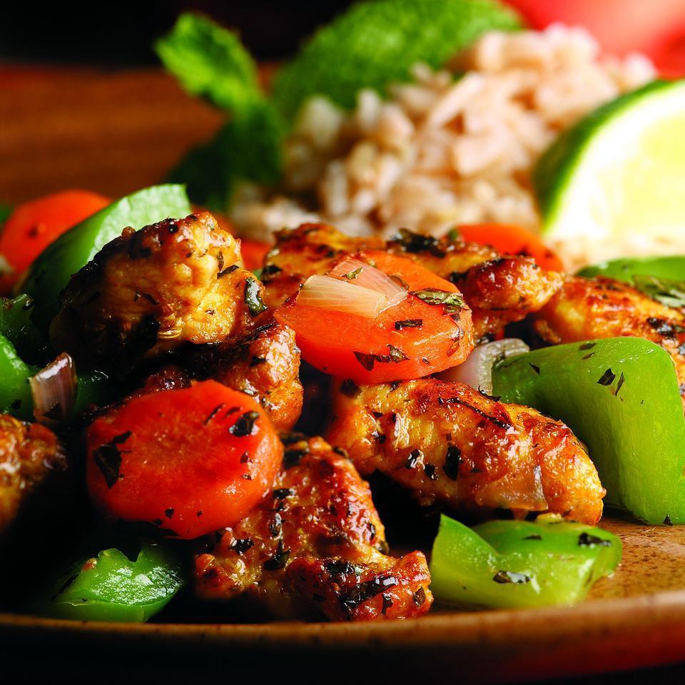 Wok-Seared Chicken & Vegetables (Kadhai murghi) Raghavan Iyer
