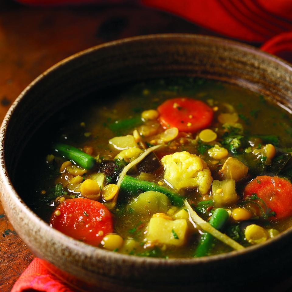 Ginger, Split Pea & Vegetable Curry (Subzi dalcha) Raghavan Iyer