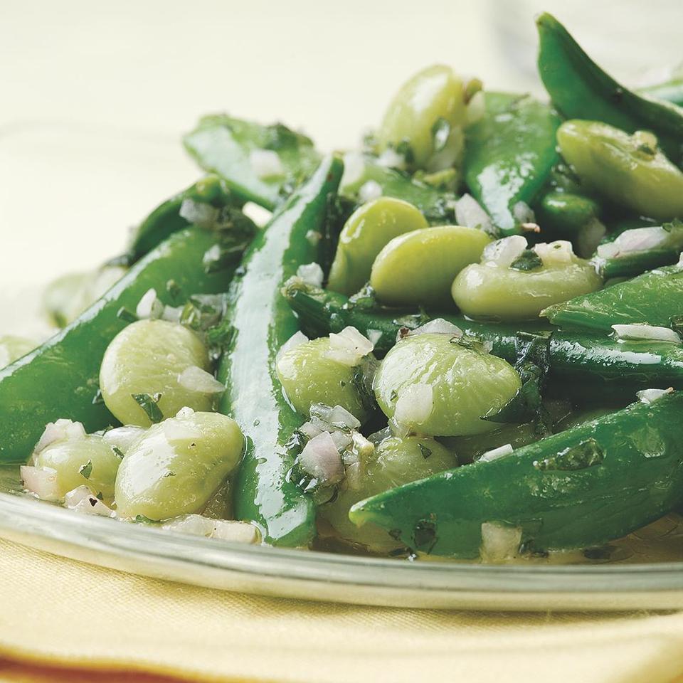 Lemon-Mint Snap Peas & Lima Beans EatingWell Test Kitchen