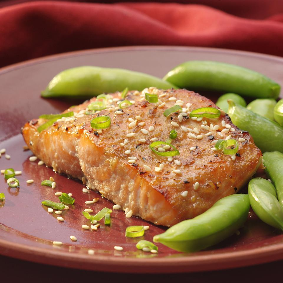 Broiled Salmon with Miso Glaze for Two Elizabeth Hiser