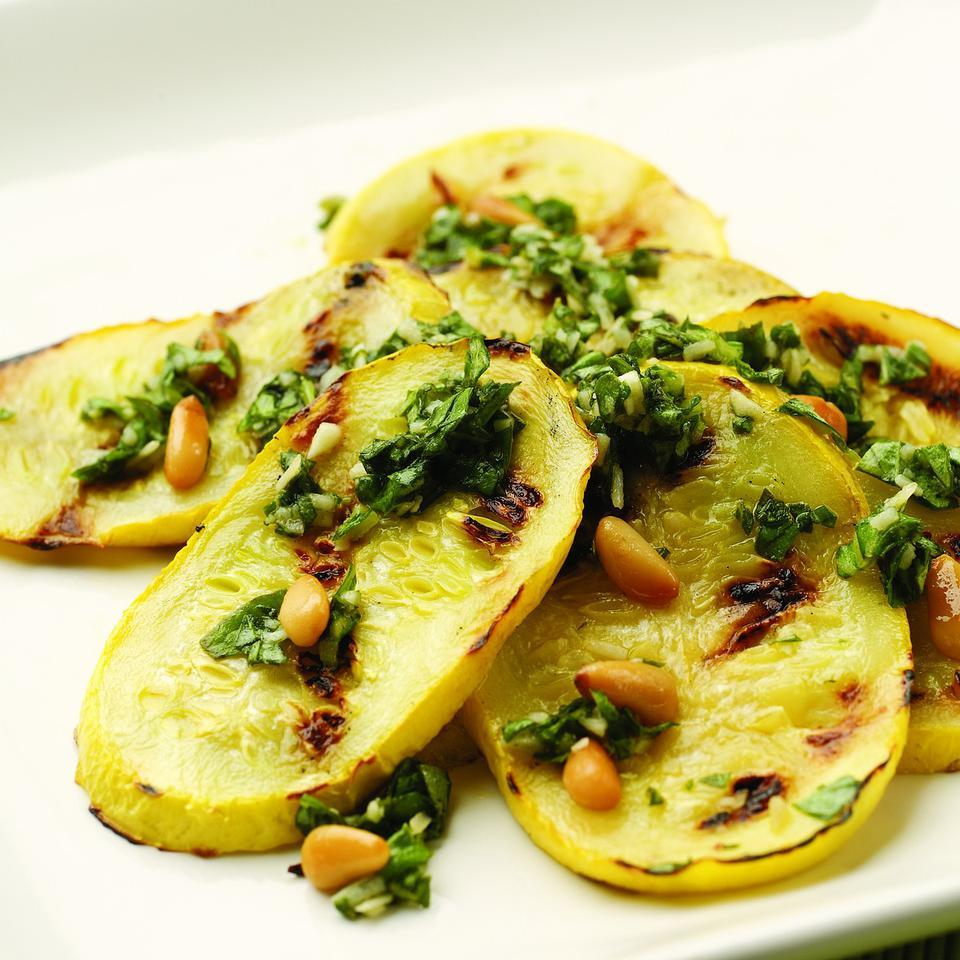 Pesto-Topped Grilled Summer Squash EatingWell Test Kitchen