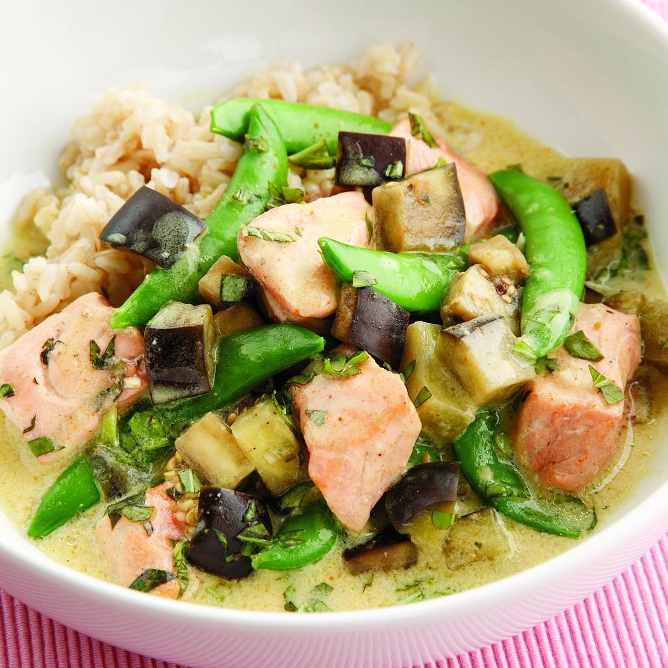 Salmon & Eggplant Curry EatingWell Test Kitchen
