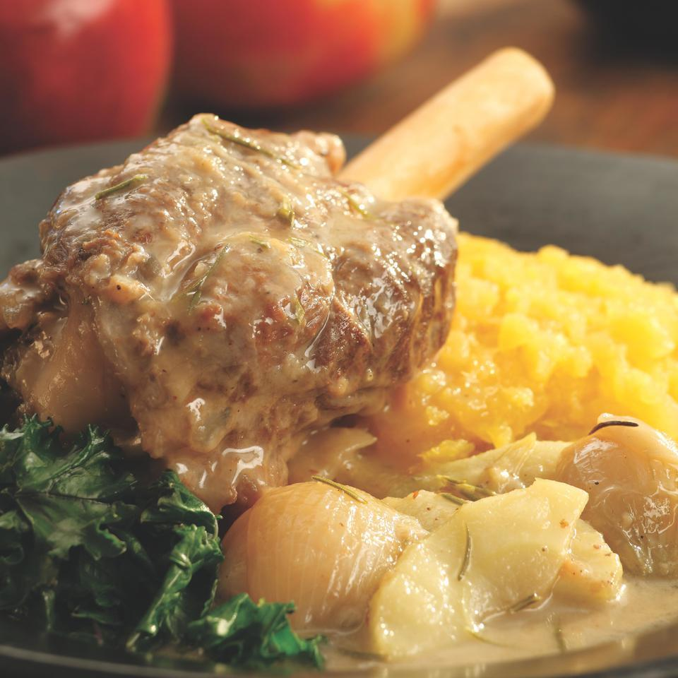 Hard Cider-Braised Lamb Shanks EatingWell Test Kitchen