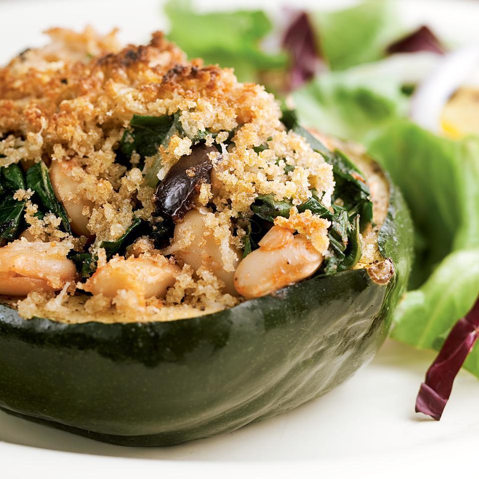 Acorn Squash Stuffed with Chard & White Beans EatingWell Test Kitchen