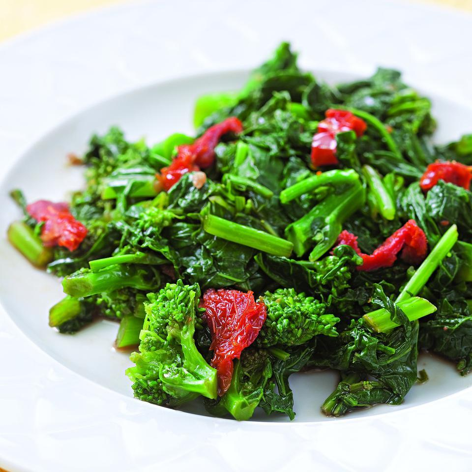 Broccoli Rabe with Sun-Dried Tomatoes EatingWell Test Kitchen