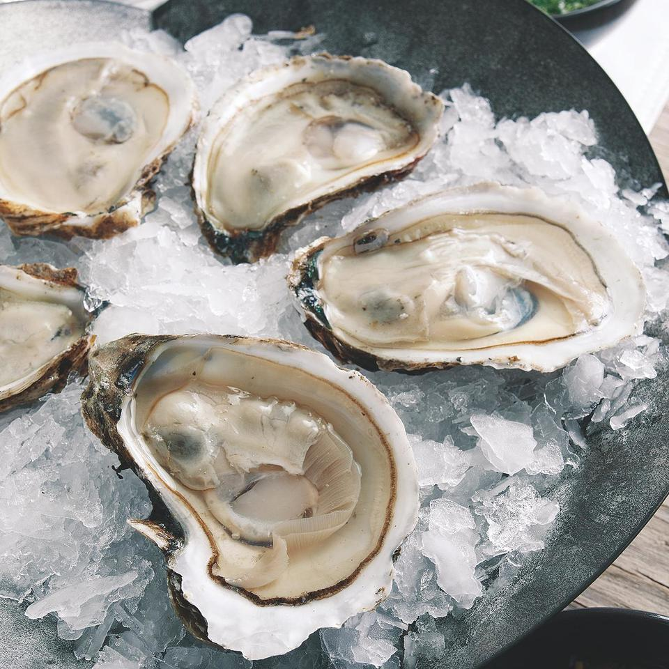Oysters on the Half Shell with Hog Wash John Ash