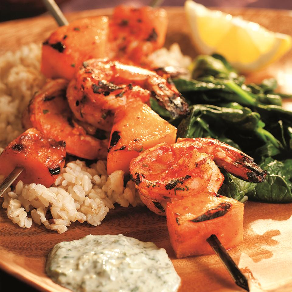 South Indian Shrimp Kebabs with Cilantro Sauce Bruce Aidells