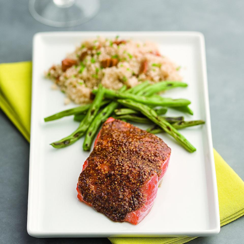 Smoky Mustard-Maple Salmon for Two EatingWell Test Kitchen