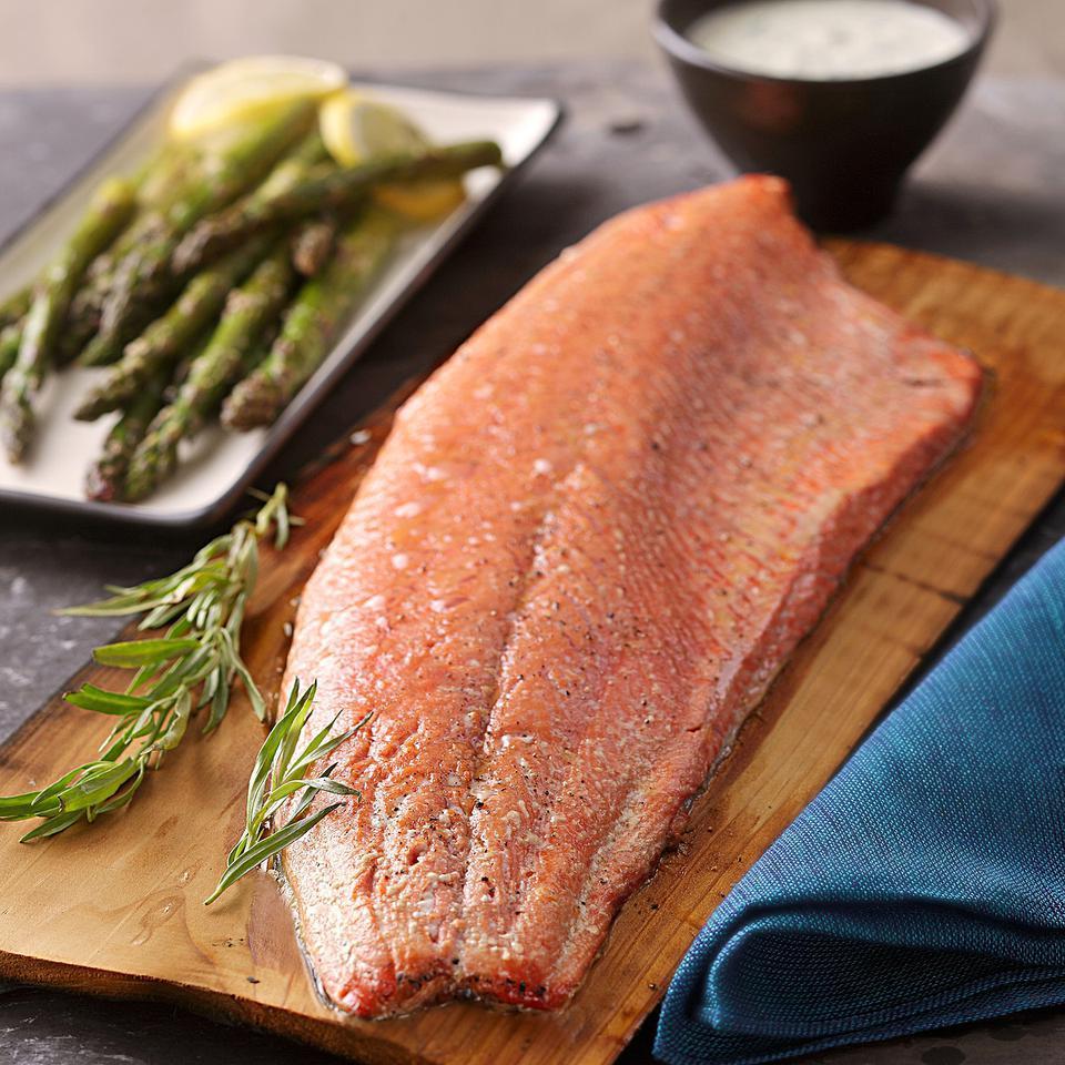 Plank-Grilled Salmon with Creamy Tarragon Sauce Barton Seaver