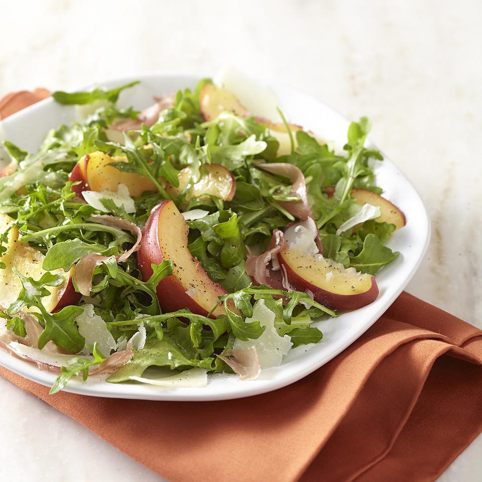 Nectarine & Prosciutto Salad EatingWell Test Kitchen