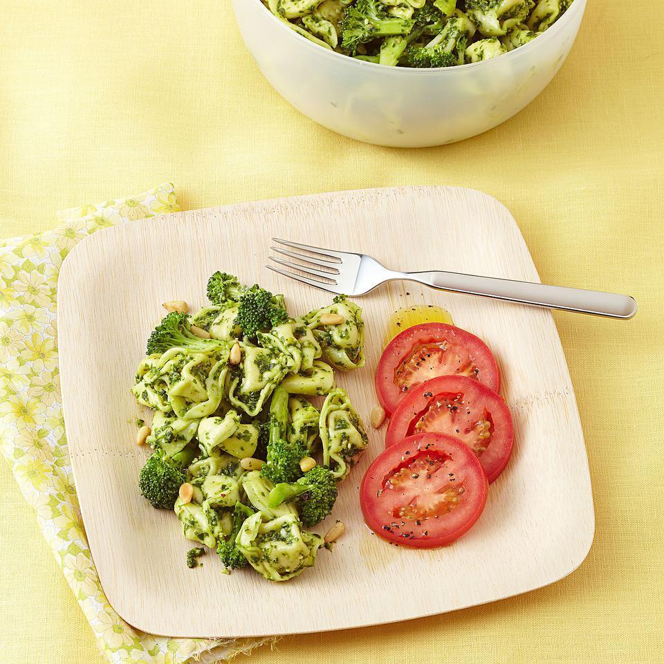 Broccoli & Tortellini Salad with Arugula Pesto EatingWell Test Kitchen