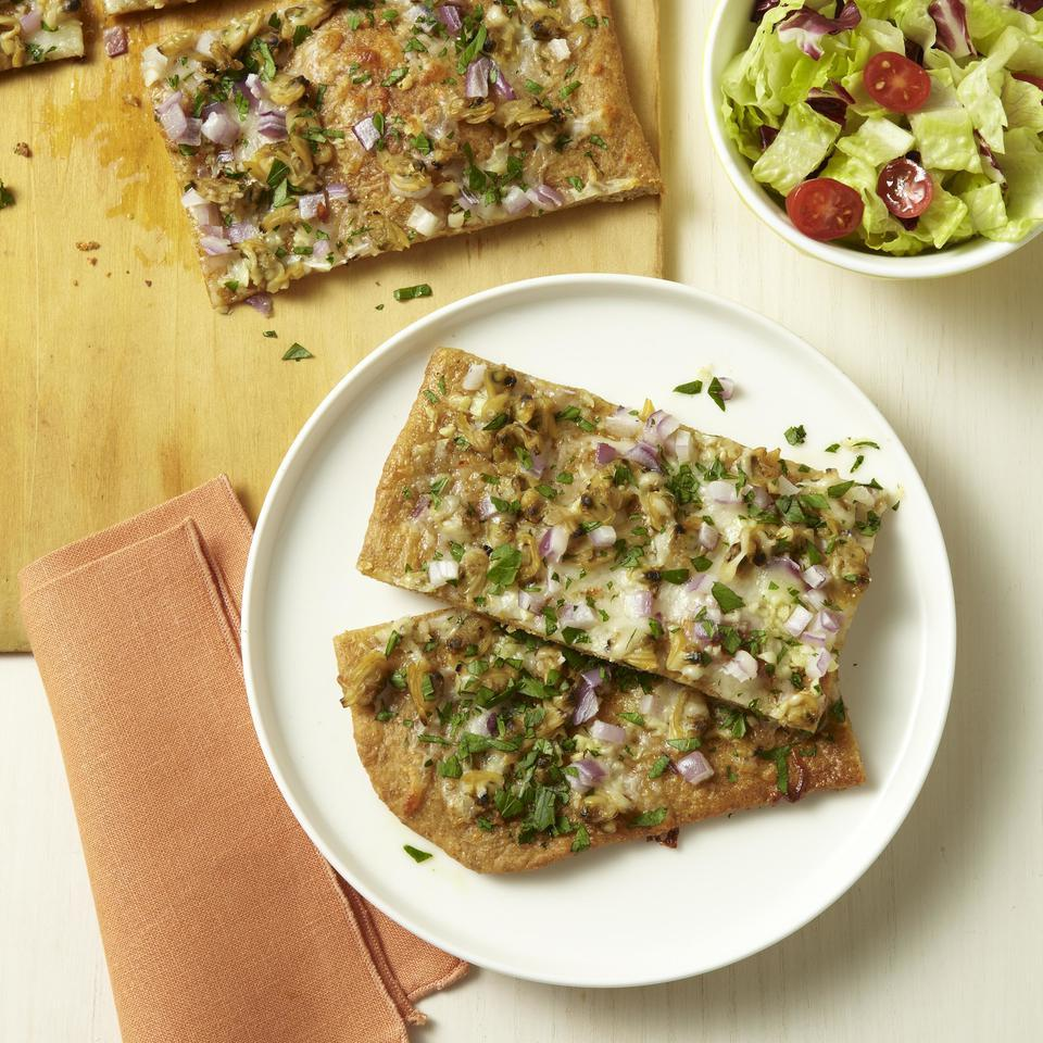 White Pizza with Clams EatingWell Test Kitchen