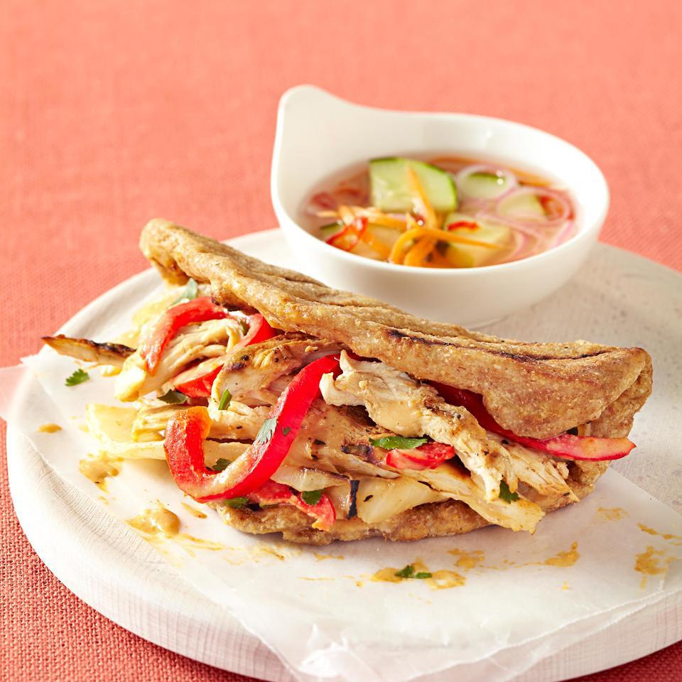 Grilled Thai Chicken Sandwich EatingWell Test Kitchen