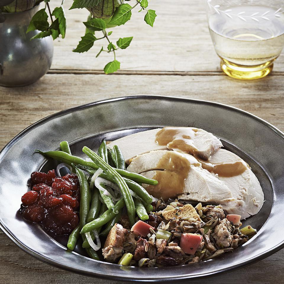 Sage-Rubbed Roast Turkey with Lemon-Bay Gravy Lia Huber