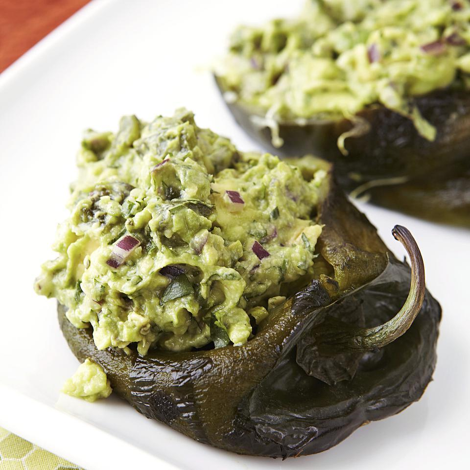 Guacamole-Stuffed Poblano Peppers EatingWell Test Kitchen