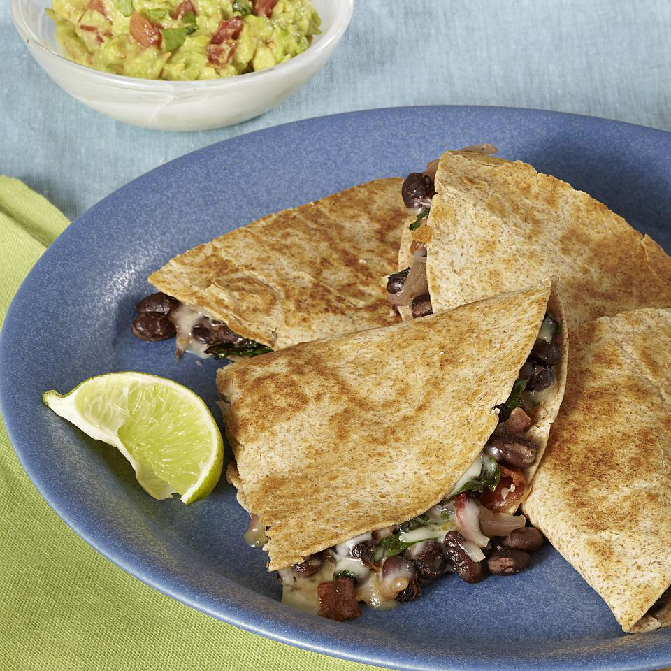 Bacon Chard Quesadillas EatingWell Test Kitchen