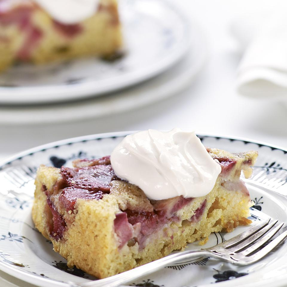 Strawberry-Rhubarb Upside-Down Cake EatingWell Test Kitchen