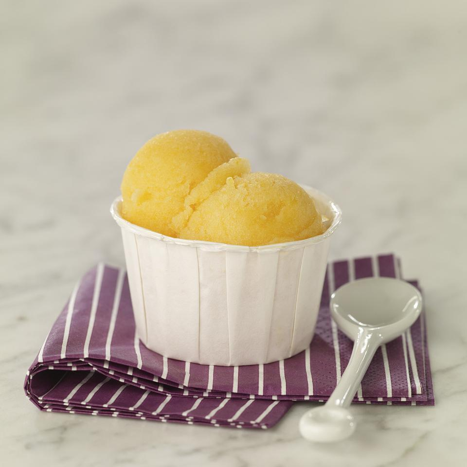 Peach Sorbet EatingWell Test Kitchen