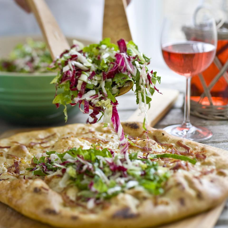 Prosciutto, Asiago & Bitter Greens Pizz'alad Hilary Meyer