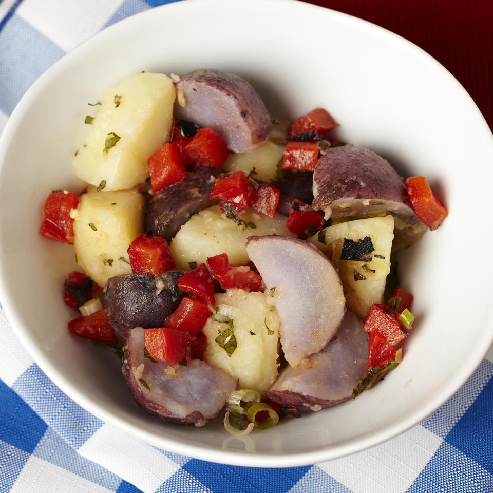 Red, White & Blue Potato Salad EatingWell Test Kitchen