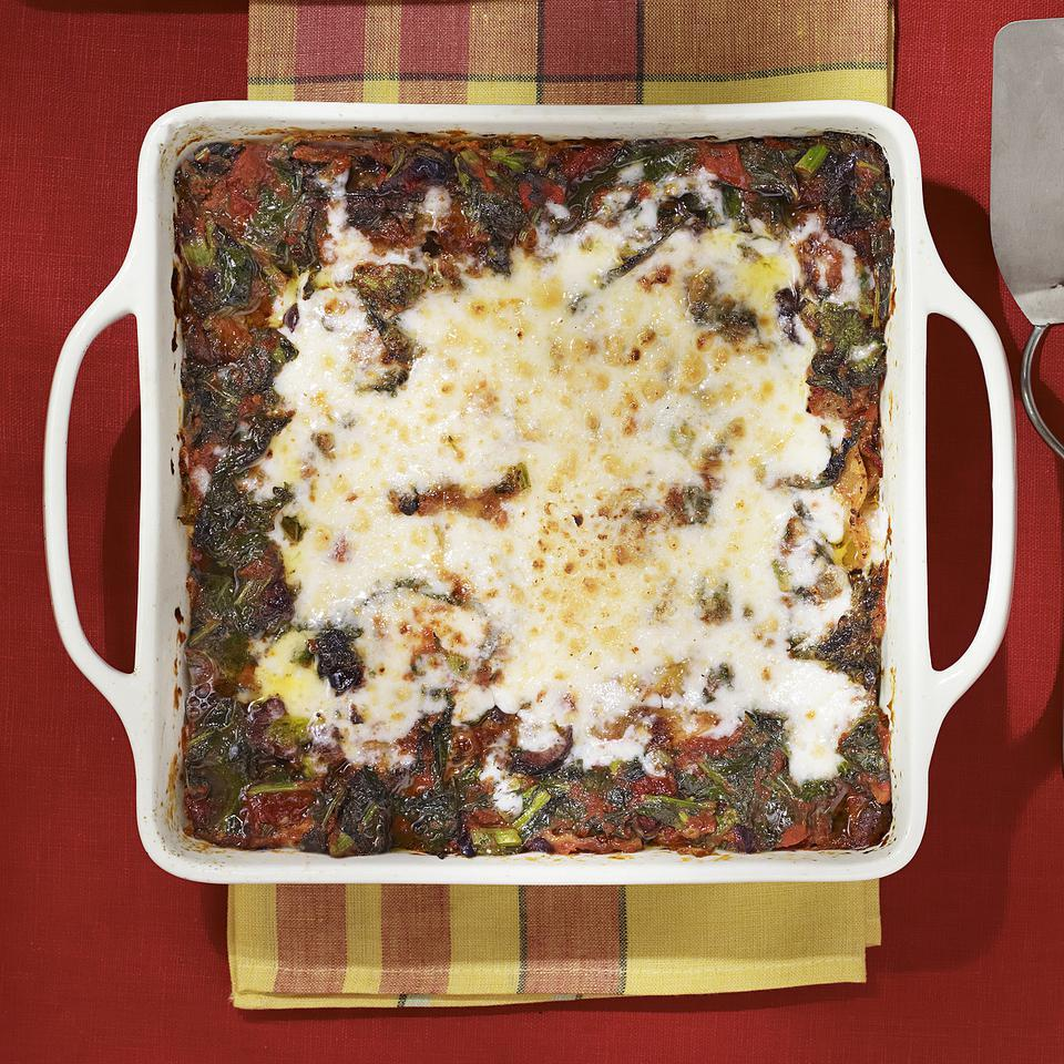 This healthy broccoli rabe and turkey sausage lasagna recipe has plenty of vegetables and goes light on sausage, so it's lower in fat and calories than traditional lasagna recipes. The recipe makes enough for two 8-by-8-inch casseroles (four servings each)—have one for dinner tonight and freeze the other for a night when you don't have time to make dinner. Or, feel free to make one larger lasagna (in a 9-by-13-inch pan) instead of two smaller ones; just increase the cooking time a bit for the larger pan size.