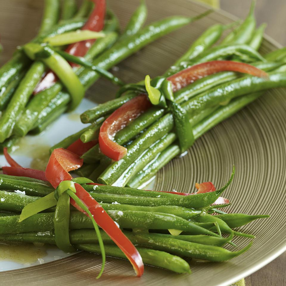 Green Bean Bundles with Garlic Browned Butter EatingWell Test Kitchen