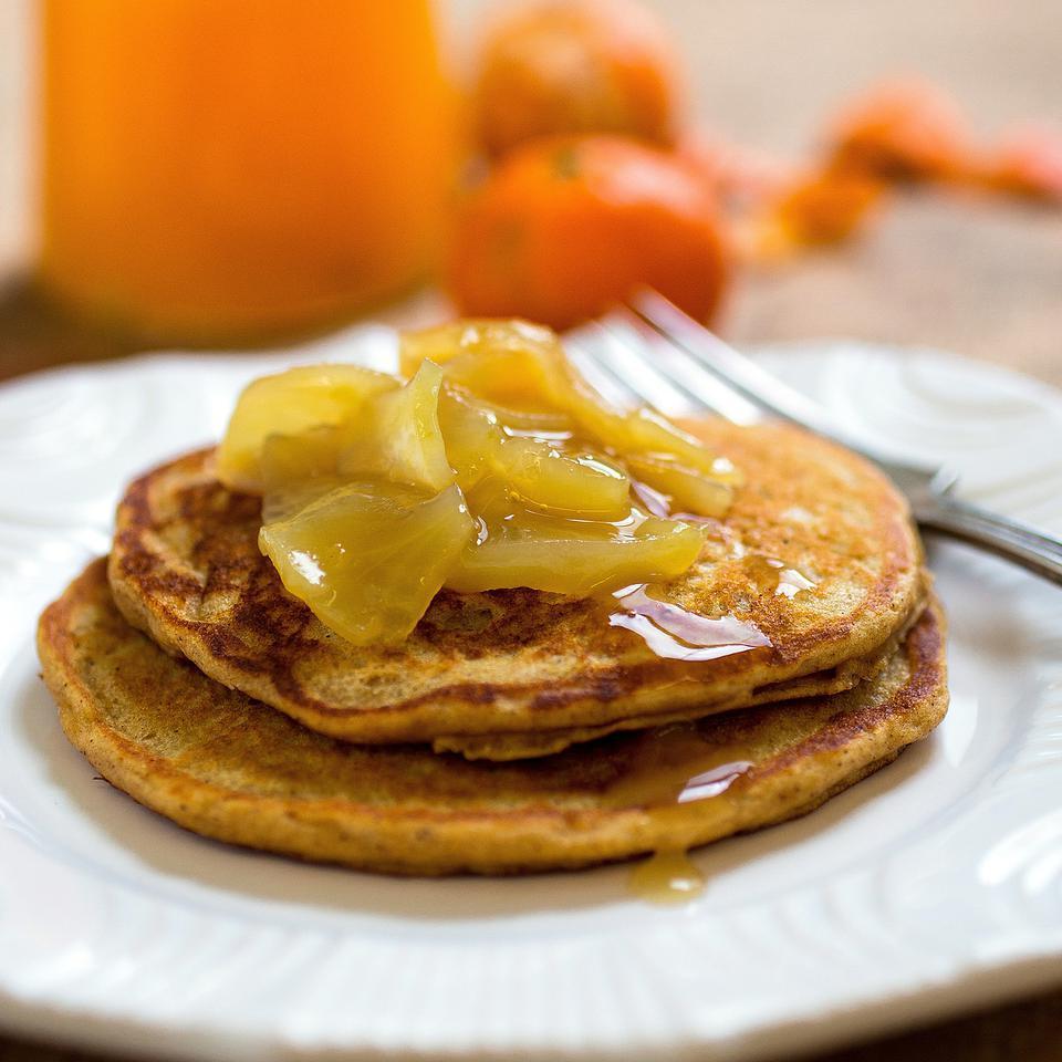 Apple-Cinnamon Pancakes Stacy Fraser