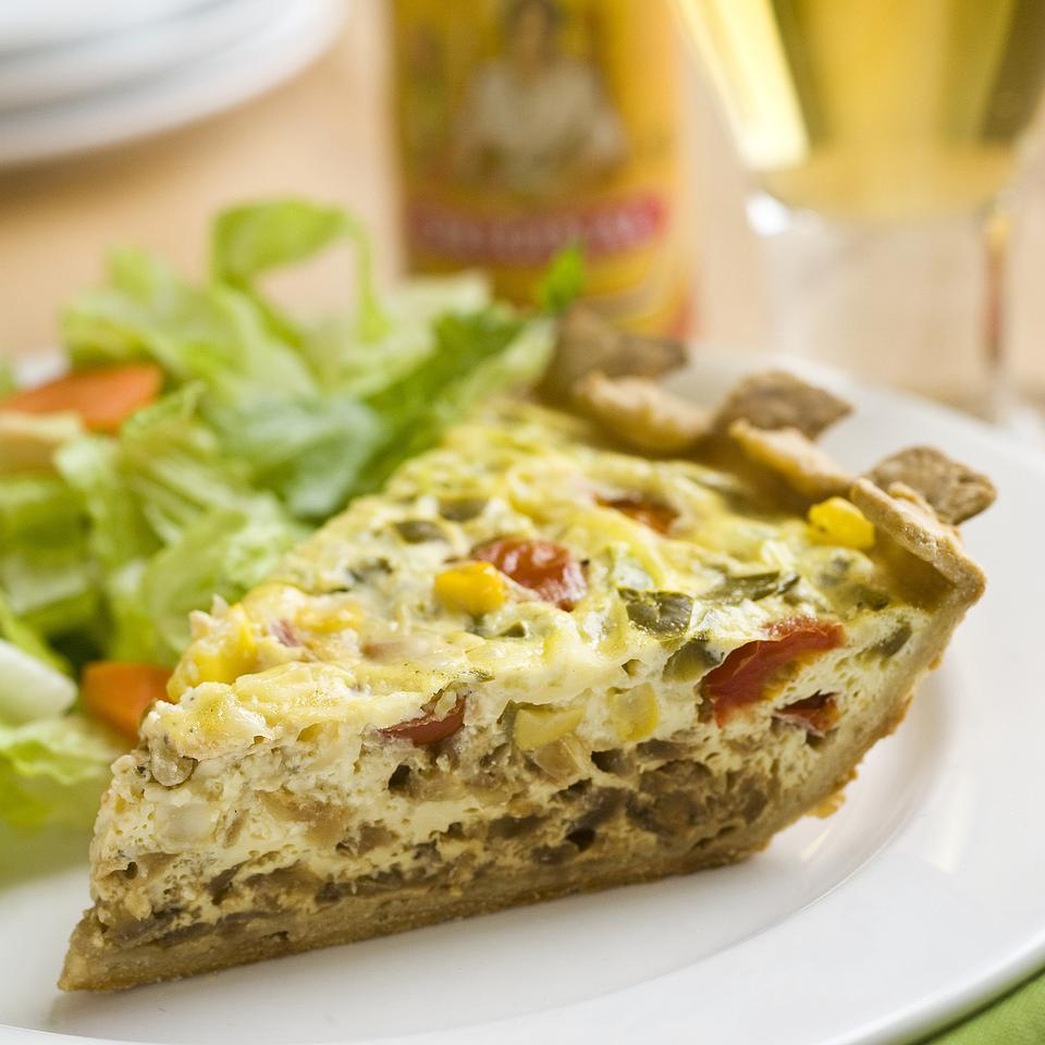 Mexican Vegetarian Quiche Stacy Fraser