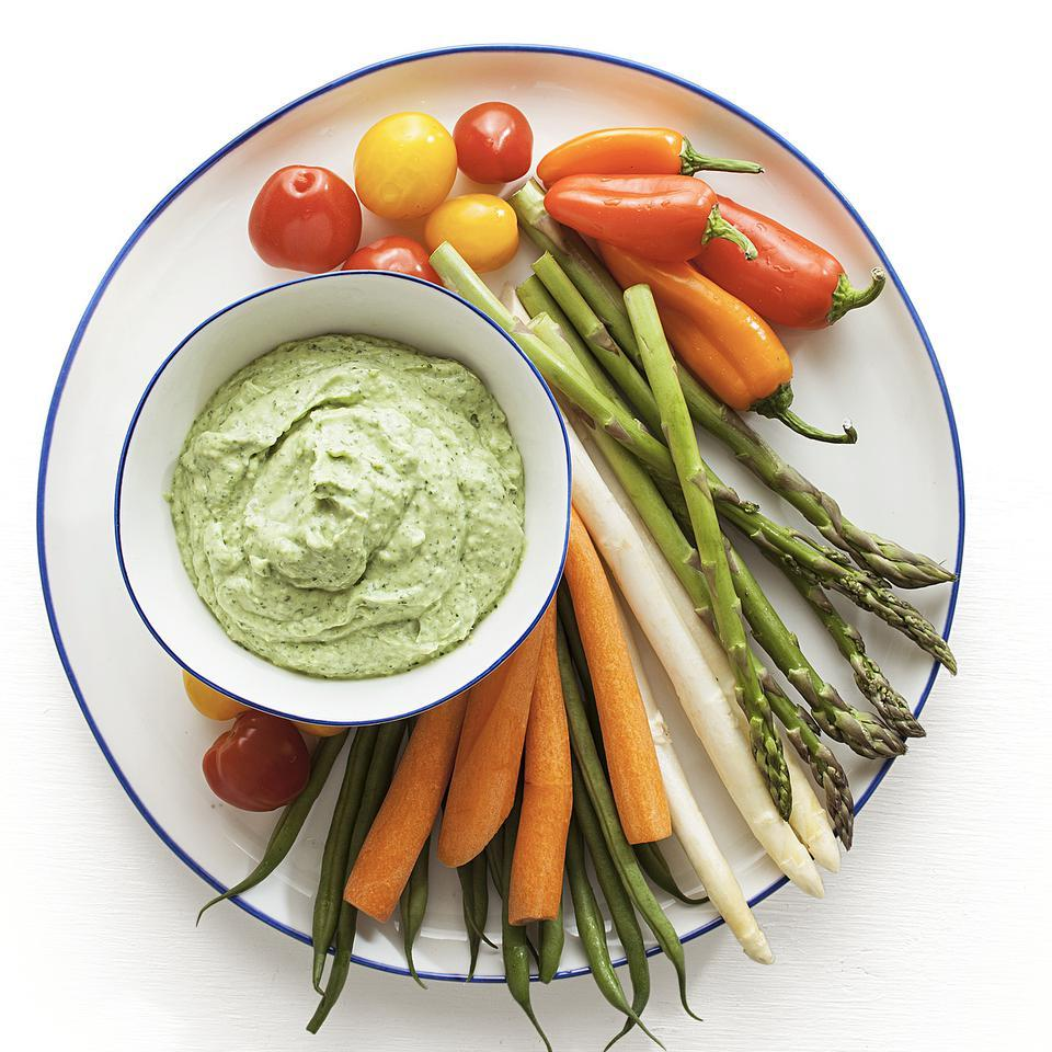 Update your guacamole recipe by adding protein-packed yogurt to make a healthy dip recipe. For an extra kick, add minced jalapeño or your favorite hot sauce for some zing! Serve this healthy dip recipe with crunchy vegetables, pita chips or pretzels, or use as a sandwich spread.