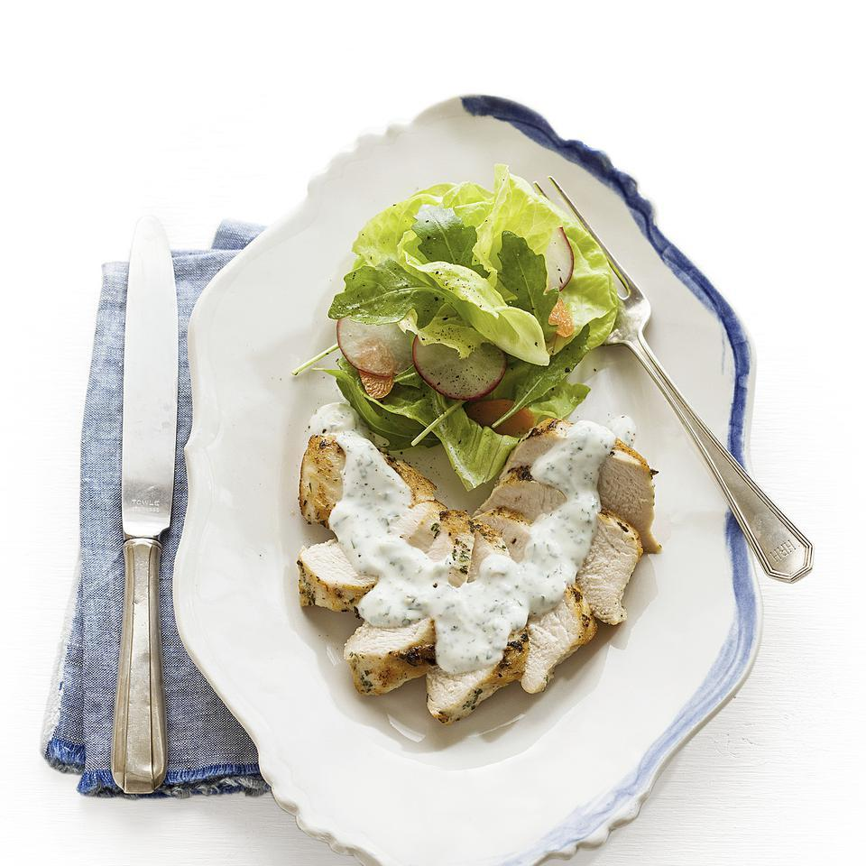 Seared Chicken with Lemon-Herb Cream Sauce EatingWell Test Kitchen