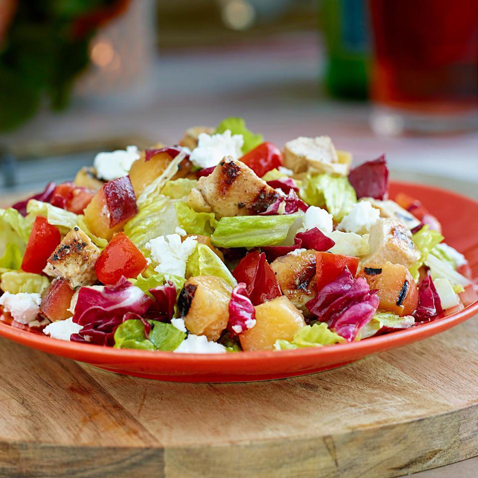 Grilled Chicken & Nectarine Chopped Salad Romney Steele