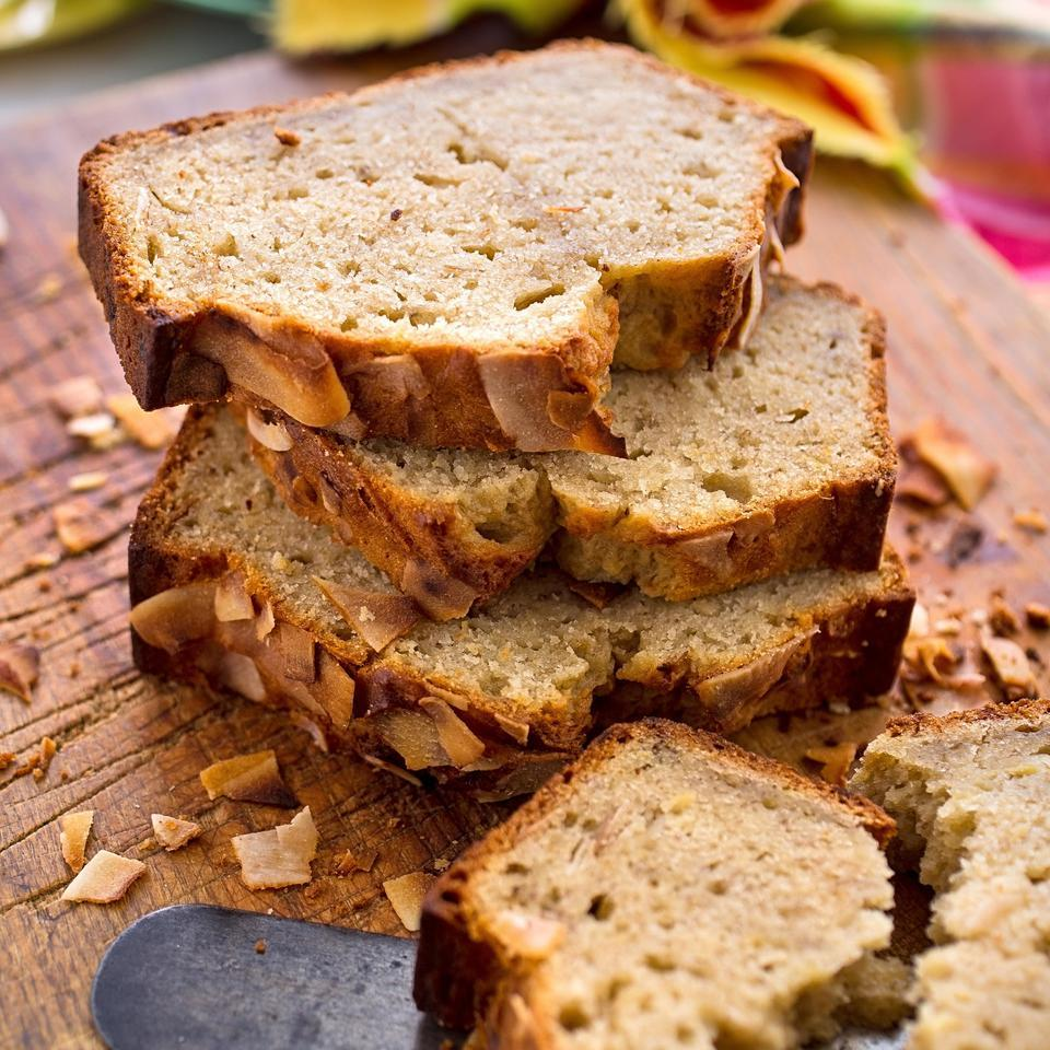 Coconut-Rum Banana Bread Kathy Gunst