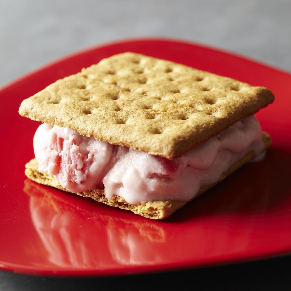 Strawberry Ice Cream Grahamwich EatingWell Test Kitchen