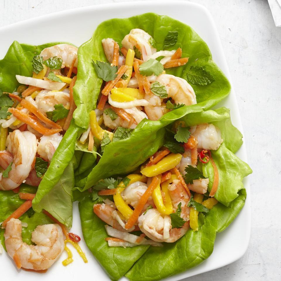 Vietnamese Shrimp & Mango Lettuce Wraps EatingWell Test Kitchen