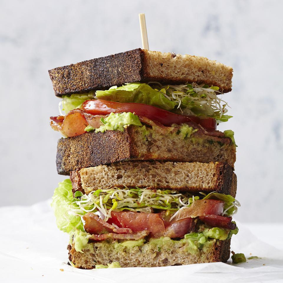 BLATs (Bacon-Lettuce-Avocado-Tomato Sandwiches) for Two EatingWell Test Kitchen