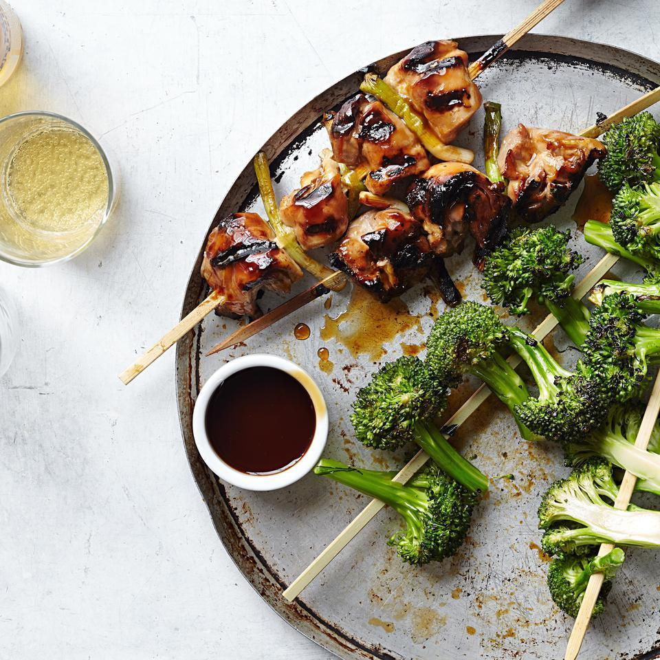 Chicken Yakitori with Broccoli for Two EatingWell Test Kitchen