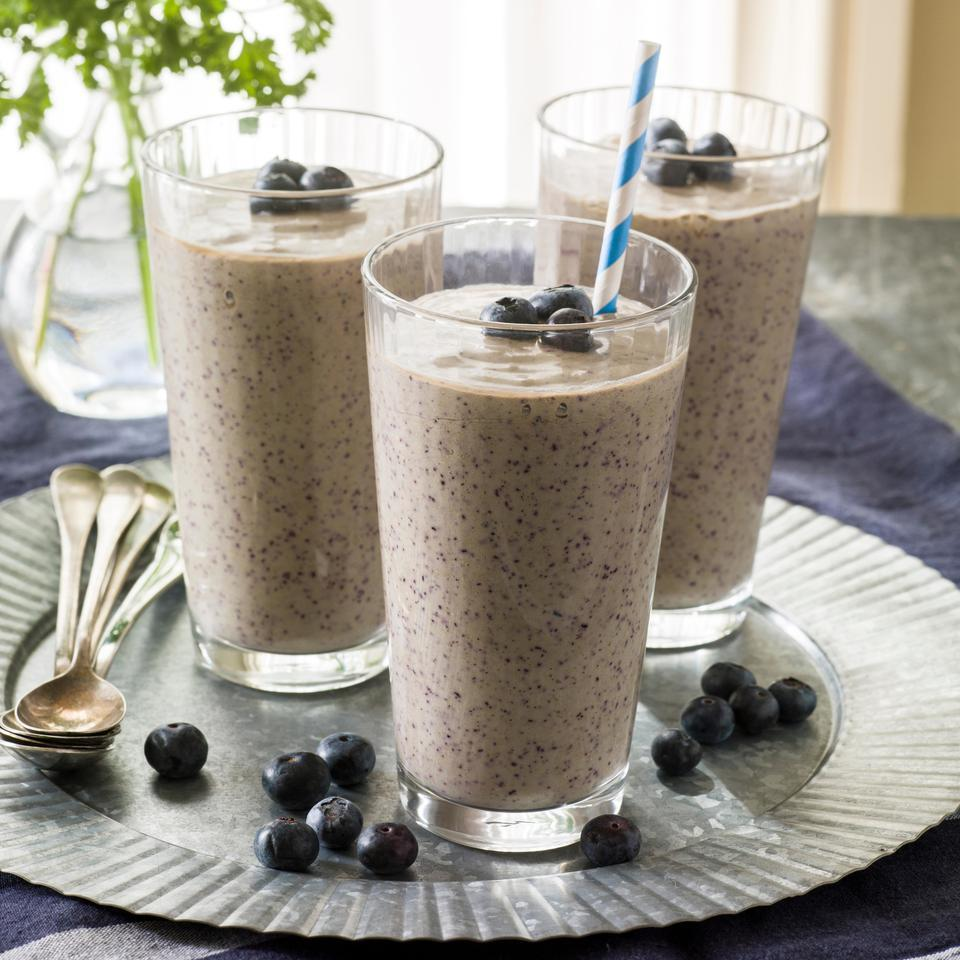 Coconut-Blueberry Green Smoothie EatingWell Test Kitchen