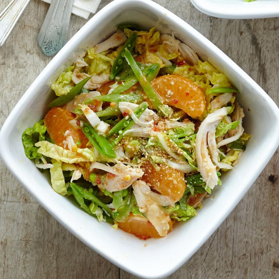 Chinese Chicken Salad with Citrus-Miso Dressing EatingWell Test Kitchen
