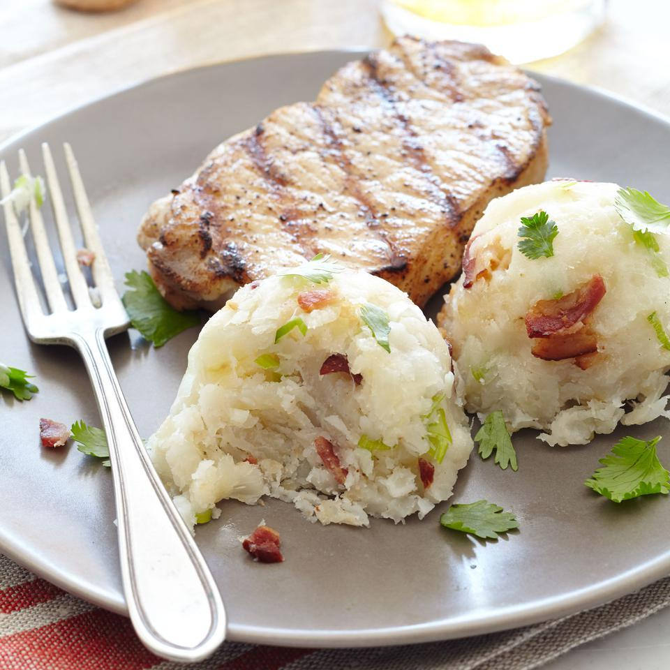 Yuca-Scallion Mofongo EatingWell Test Kitchen