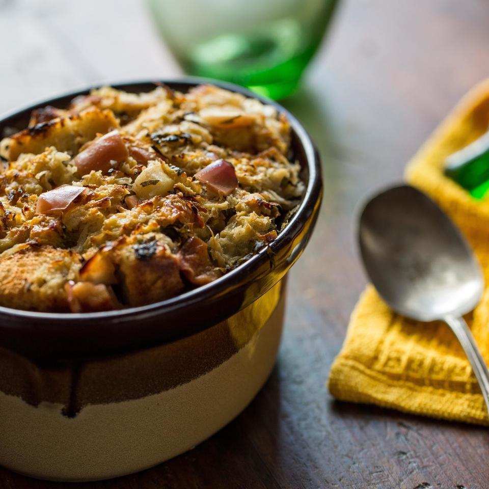 Apple-Sauerkraut Stuffing EatingWell Test Kitchen