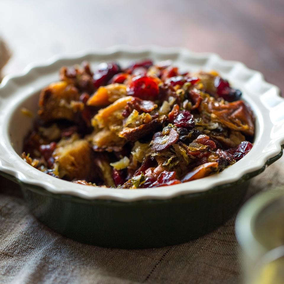 Brussels Sprouts & Bacon Stuffing EatingWell Test Kitchen