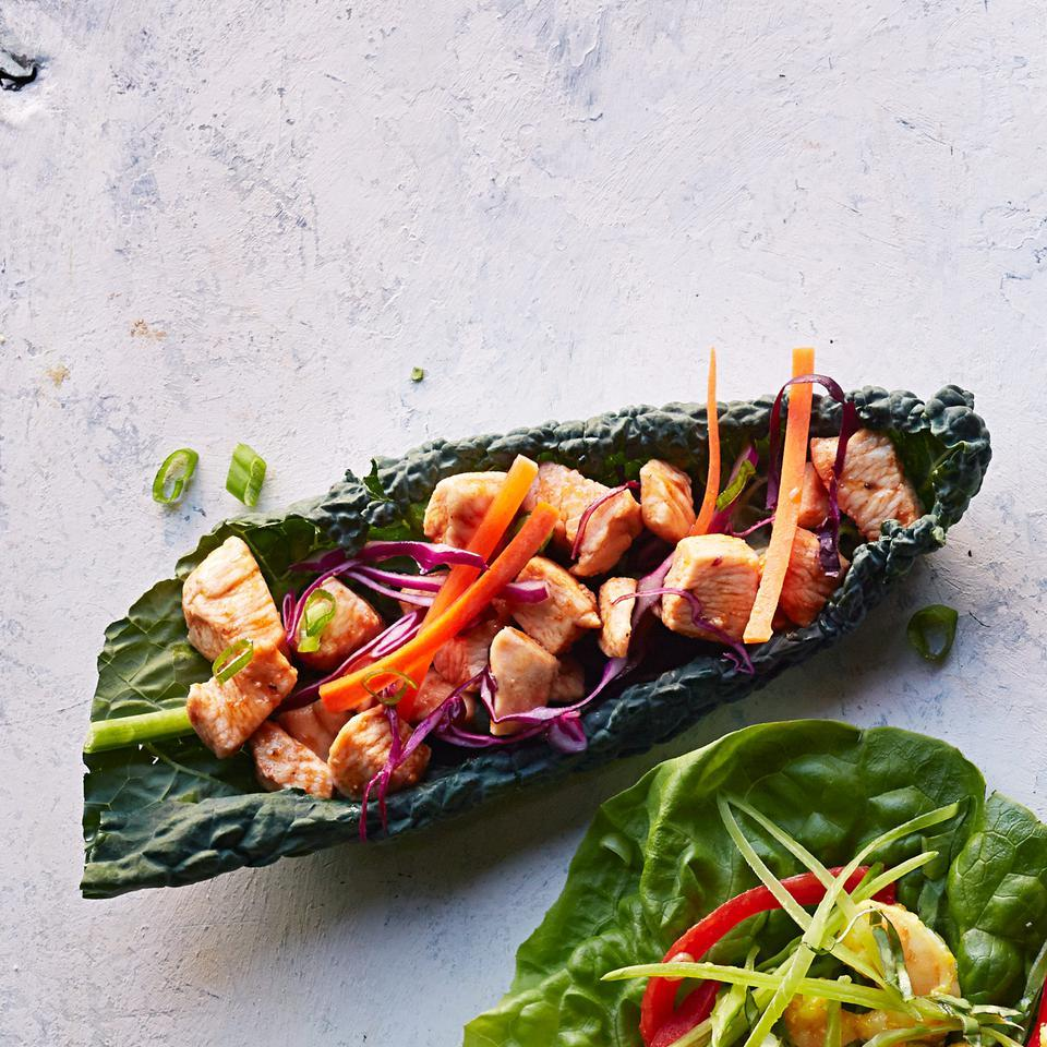 Barbecue Chicken Kale Wraps EatingWell Test Kitchen