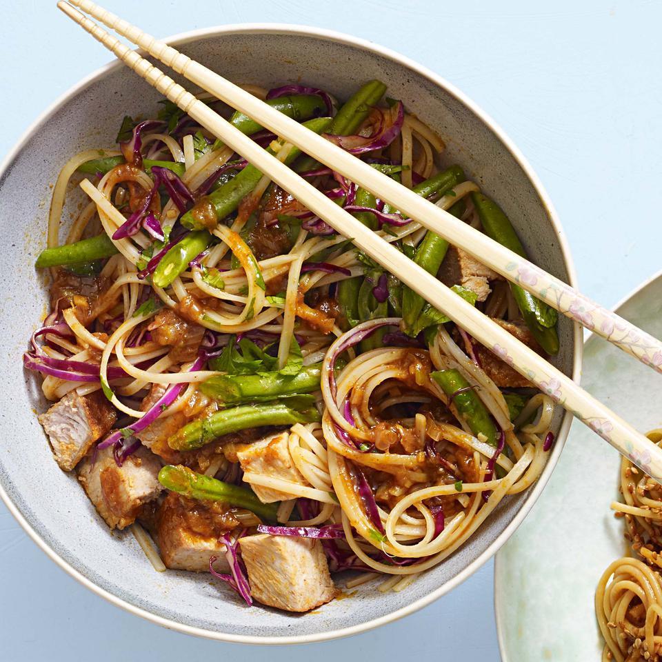 Thai Curry & Pork Sesame Noodles EatingWell Test Kitchen
