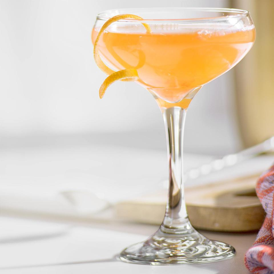 This easy cocktail recipe is named for how verjus—a nonalcoholic grape juice that is slightly tart—is made from the first pressing of the annual grape harvest. Look for verjus in wine shops and specialty markets. For this cocktail, use white verjus; red verjus is also available.