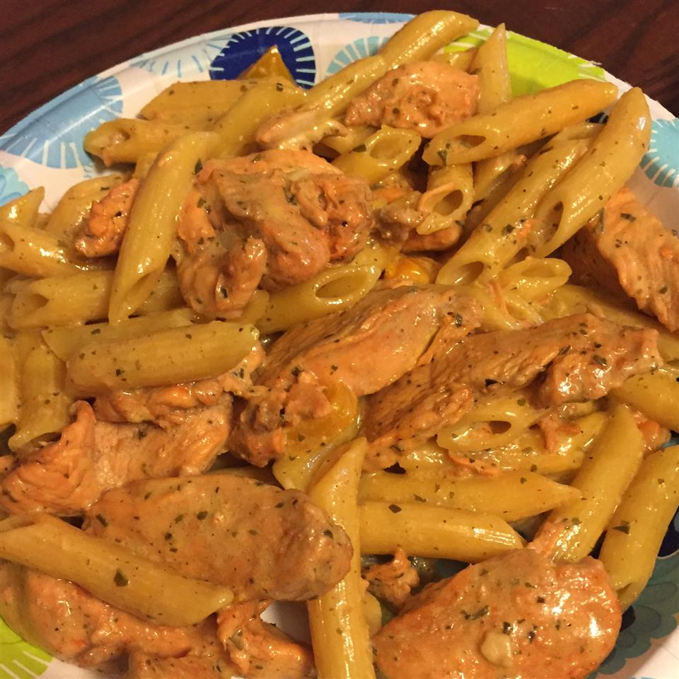 Penne with Chicken and Pesto BossyBoss