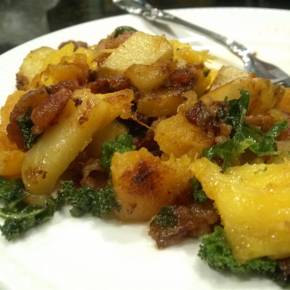 Mango-Bacon-Butternut Squash Hash