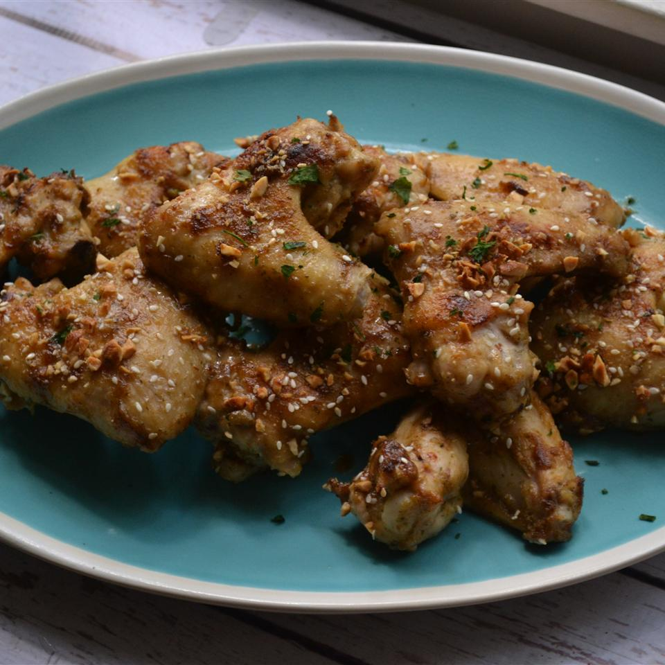 Peanut Sesame Chicken Wings