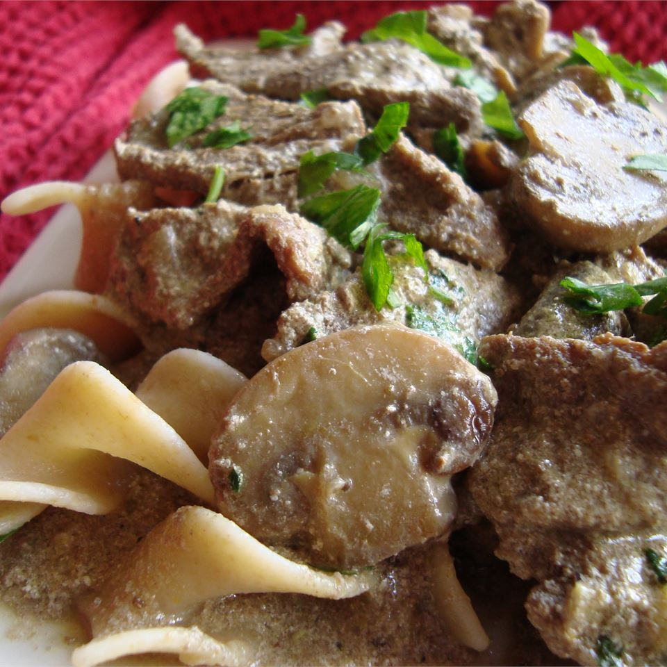Beef and Mushroom Stroganoff, Aussie Style