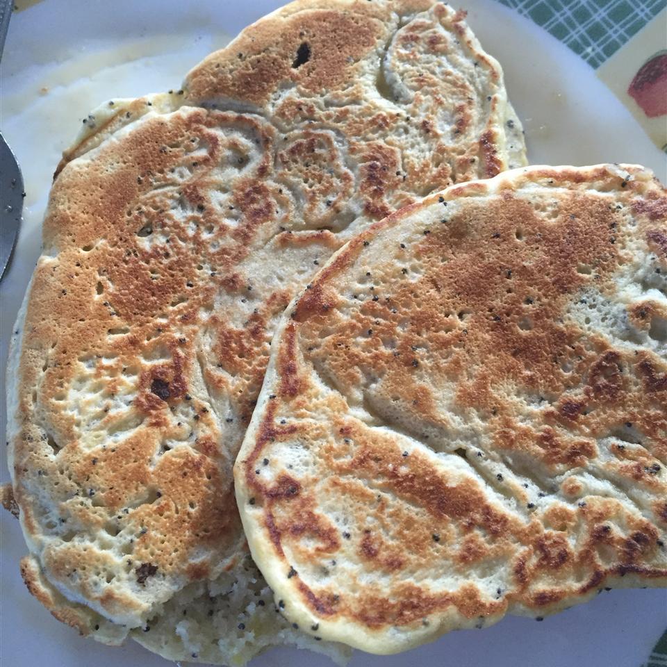 Sunday Morning Lemon Poppy Seed Pancakes