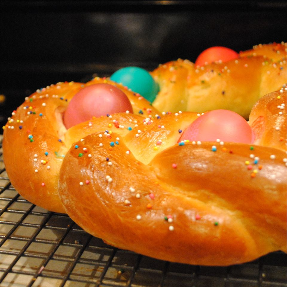 Braided Easter Egg Bread MARBALET